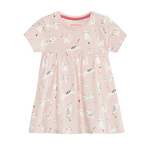 bluezoo - Baby girls+ pink cat print dress