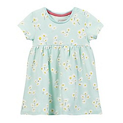 bluezoo - Baby girls' blue daisy print jersey dress