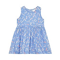 bluezoo - Baby girls' blue dragonfly woven dress
