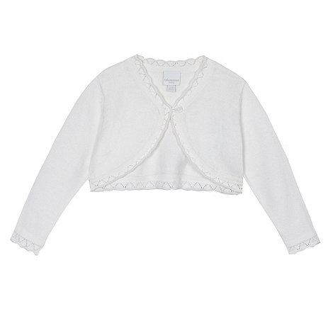 bluezoo - Baby girl+s white scalloped cardigan