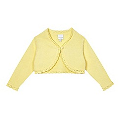 bluezoo - Baby girls' yellow frilled cardigan