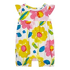 bluezoo - Baby girls' multi-colour floral woven romper