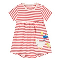 bluezoo - Baby girls' pink duck applique jersey dress