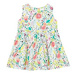 bluezoo - Baby girls' multi-coloured bird print dress