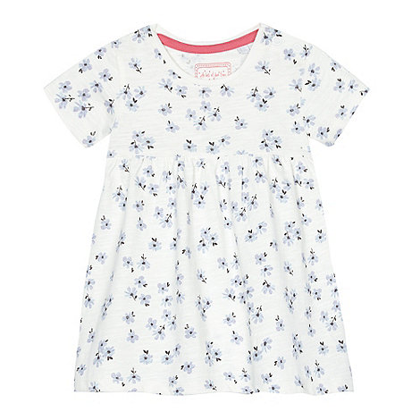 bluezoo - Baby girls+ white daisy print dress