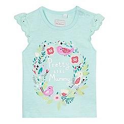 bluezoo - Baby girls' aqua applique t-shirt