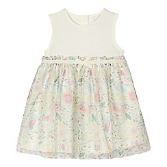 bluezoo - Baby girls' off white floral print dress