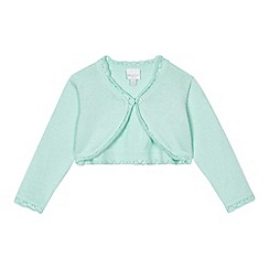 bluezoo - Baby girls' aqua scalloped cardigan