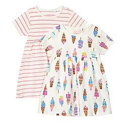 bluezoo - Baby girls' multicoloured set of two dresses