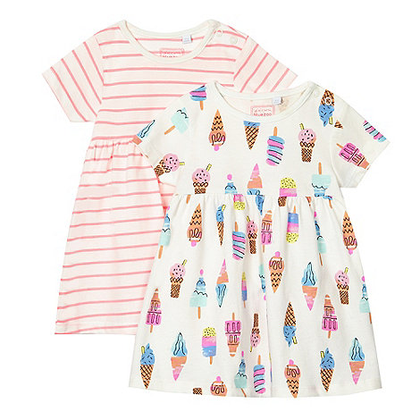 bluezoo - Baby girls+ multicoloured set of two dresses