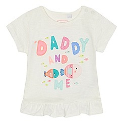 bluezoo - Baby girls' white 'Daddy and me' slogan t-shirt