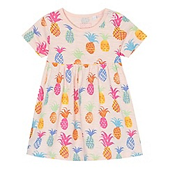 bluezoo - Baby girls' pink pineapple print dress