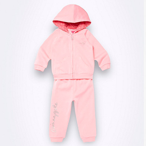 Pineapple - Babies pink hooded tracksuit