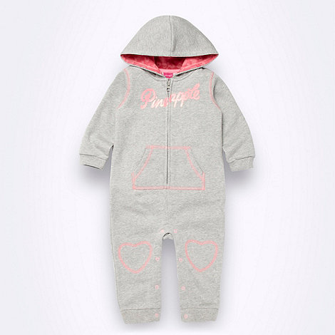 Pineapple - Babies grey jersey one-piece