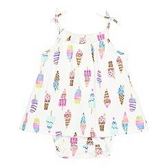 bluezoo - Baby girls' white ice lolly print dress body