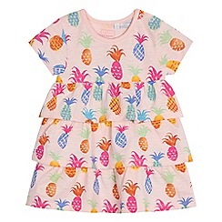 bluezoo - Baby girls' pink pineapple print rara dress