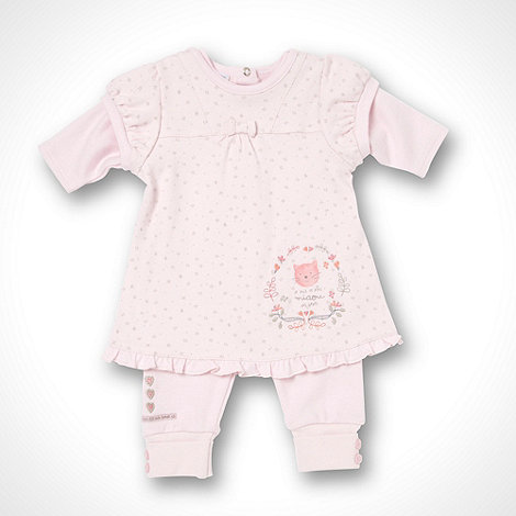 Les bebes sont comme ca - Girl+s pink dress and romper suit