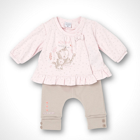 Les bebes sont comme ca - Girl+s pink tee and jogger set