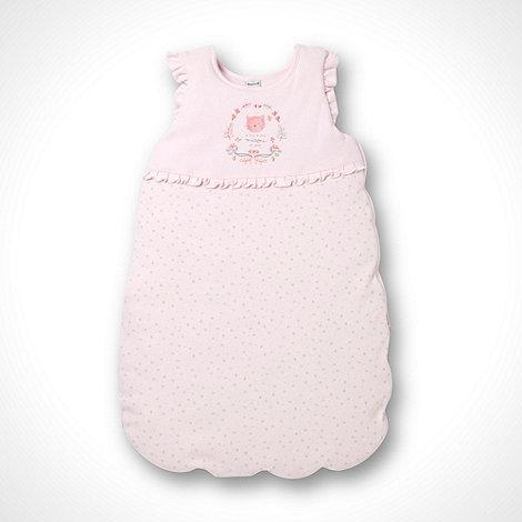 Les bebes sont comme ca - Girl+s pink kitten printed sleepbag