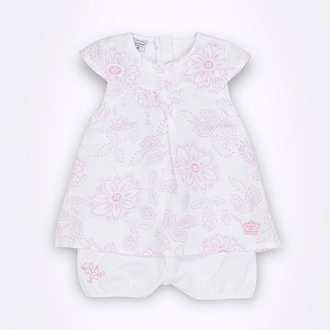 Les bebes sont comme ca - Girl+s white floral top and shorts