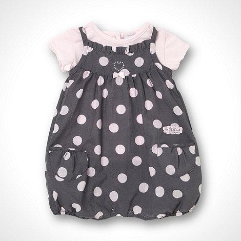 Les bebes sont comme ca - Girl+s grey bib short set