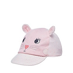 bluezoo - Baby girls' pink cat applique cap
