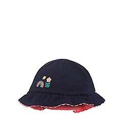 bluezoo - Girls' blue and pink frilled hat