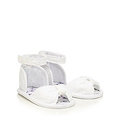 bluezoo - Baby girls' white broderie sandals