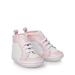 bluezoo - Baby girls' pink high top trainer booties