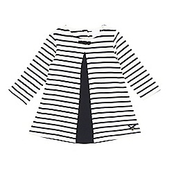 J by Jasper Conran - Girls' white striped pleated dress