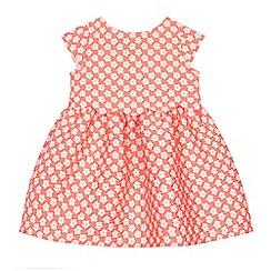 J by Jasper Conran - Baby girls' light orange textured flower dress
