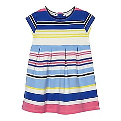 J by Jasper Conran - Baby girls' multi-coloured striped jersey dress