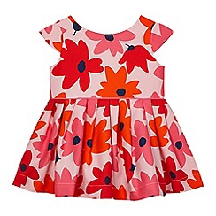 J by Jasper Conran - Baby girls' pink abstract flower dress