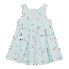 J by Jasper Conran - Baby girls' aqua floral print dress