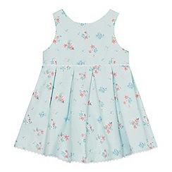 J by Jasper Conran - Baby girls' aqua floral print dress