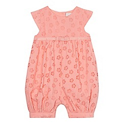 J by Jasper Conran - Baby girls' pink burnout romper suit