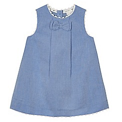 J by Jasper Conran - Baby girls' blue chambray dress and knickers set