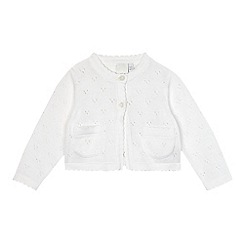 J by Jasper Conran - Baby girls' white pointelle cardigan