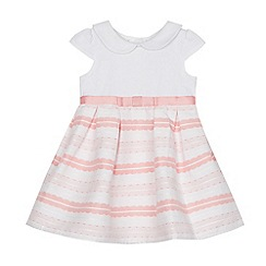 J by Jasper Conran - Baby girls' pink jersey woven dress