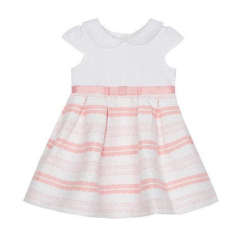 J by Jasper Conran - Baby girls+ pink jersey woven dress