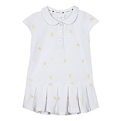 J by Jasper Conran - Baby girls' white lemon embroidered dress