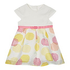 J by Jasper Conran - Baby girls' multi-coloured burnout spotted dress