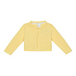 J by Jasper Conran - Baby girls' yellow texture spot cardigan