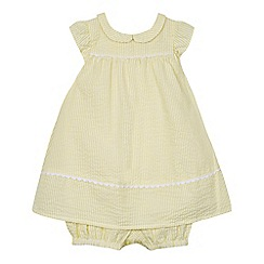 J by Jasper Conran - Baby girls' yellow woven romper suit