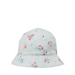 J by Jasper Conran - Baby girls' light green floral print sun hat