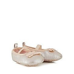 J by Jasper Conran - Baby girls' pink metallic ballet pumps