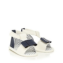 J by Jasper Conran - Baby girls' white bow detail sandals