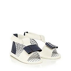 J by Jasper Conran - Baby girls' white bow detail sandals