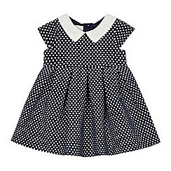 J by Jasper Conran - Baby girls' navy Peter Pan collar empire dress