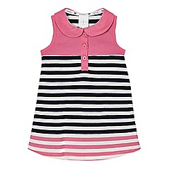 J by Jasper Conran - Baby girls' pink and navy striped dress